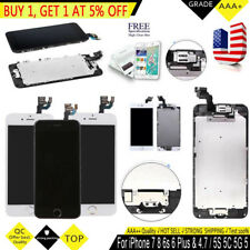 Apple iPhone 6 Plus 6S 5S 5C 5G 5 LCD Touch Screen Display Digitizer Home Button