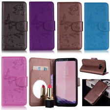 Butterfly Wallet Leather Flip Case Cover For Samsung S6 S7 S8 S9 A6 Plus Note 9
