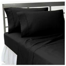 UK Bedding Collection 100% Egyptian Cotton 1000 Thread Count Black Solid