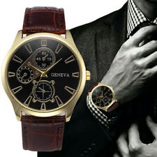 Mens Casual Wrist Watches Luxury Quartz Business Sports Wristwatch Leather Strap