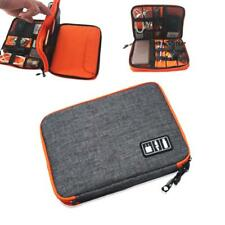 Nylon Dual Layer Travel Gear Organizer Bag Phone Pad Charger Accessory Case