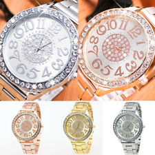 Womens Ladies Rhinestone Stylish Luxury Wrist Watch Stainless Steel Watches Gift