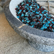 Fire Glass and Lava Rock Blend | Indoor & Outdoor Fire Pits or Fireplaces