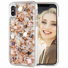 Bling Sparkle Glitter Shockproof Clear TPU Case Cover For iPhone X 7 Plus 6S 8