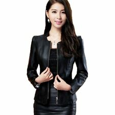 New Fashion Zipper Bright Colors Washed PU Leather Jacket For Women
