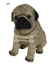 22cm Dog with Welcome Sign Garden Outdoor or Indoor Ornament Figurine