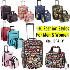 Rockland Expandable 2 Piece Luggage Set Carry On Travel Tote Bag Wheel Suitcase