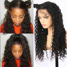 Brazilian Remy Wavy Human Hair Lace Front Wigs Curly Glueless Full Lace Wig