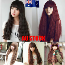 AU Womens Long Wavy Curly Natural Hair Wigs Party Cosplay Costume Charming Props
