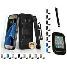 For Samsung Galaxy S7 Hybrid TUFF IMPACT Holster Clip Hard Case Cover Mount+Pen