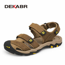 DEKABR New Fashion Summer Shoes Cow Leather Men Sandals Mens Casual Shoes