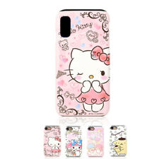 Hello Kitty Art Collection Protect Hard Dual Bumper Case For Apple iPhone X 10