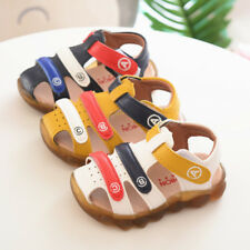 New Summer Infant Babys Sandals Closed Toe Shoes Baby Boys Walking Shoes Elastic