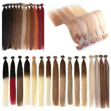 DOUBLE DRAWN 8A Pre Bonded Keratin Nail U Tip Glue Remy Human Hair Extensions 1G