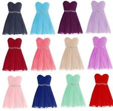 Popular Short Prom Bridesmaid Dress Cocktail Homecoming Evening Party Gown Y346H