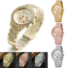 Women Lady Luxury Stainless Steel Quartz Watch Fashion Rhinestone Wrist Watches