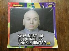 vtg Austin Powers Mouse Pad NIP Surrounded by Frickin Idiots comedy movie 1999