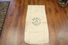 VINTAGE CLOTH LARGE A BEMIS SEAMLESS GRAIN SEED BAG FEED SACK COUNTRY FARM DECOR