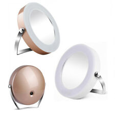 Bathroom LED Lighted Cosmetic Makeup Shaving Magnifying Vanity 3X Mirror