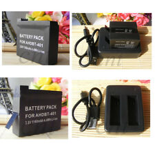 2pcs HERO 4 AHDBT-401 Battery & Dual Charger for GoPro HD HERO4 Black Silver