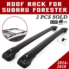 Roof Rack For Subaru Forester Cross Bars 2014-2018 Durable Utility Matte black (Fits: Subaru Forester)