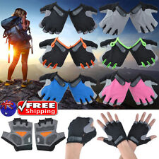 Mens Womens Unisex Half Finger Antiskid Gel Padded Gloves Outdoor Sport Cycling