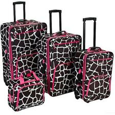 Rockland Luggage Fashion Collection F105 4-Piece Soft-Side Expandable Luggage