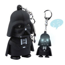 1Pc Star Wars LED Light Keychain Cool Darth Vader Keyring With Sound Decor Gift