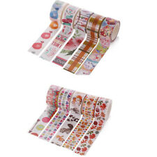 3 Rolls Hand Tear Decorative Paper Tape Sticker for DIY Hand Account 5 x 2cm