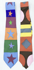 GENE MEYER LIMITED EDITION EXCLUSIVE DESIGNS SILK NECK TIES - LOT OF 2