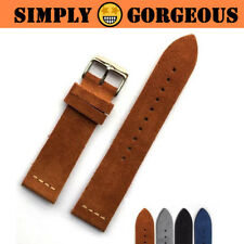 SUEDE Design Unique Classic Genuine Leather Watch Band Strap 20mm 22mm