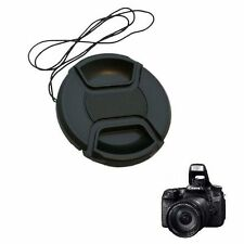49 52 55 58 62 67 72 77 82mm Center Pinch Lens Cap Cover + Cord For Canon Camera