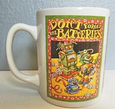 """Mary Engelbreit Mug """"Don't Forget the Batteries"""" 4"""" Vintage 1995"""