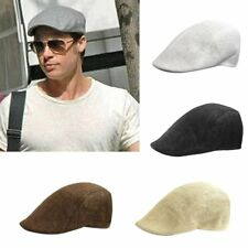 Mens Retro Newsboy Cabbie Gatsby Flat Cap Cotton Golf Driving Beret Unisex Hat