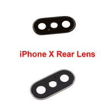 OEM Rear Camera Glass Lens Cover Frame Ring Replacement Apple iPhone X 10 5.8""