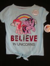 """MY LITTLE PONY  tee shirt  NWTS with REVERSIBLE SEQUINS """" BELIEVE IN UNICORNS"""""""