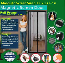 Magnetic Screen Protection Mosquito Door Net Curtain W/ full Frame Hook & Look