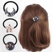 Women Elastic Ponytail Holder Starfish Hair Rope Ring Band Rope Hair Accessories