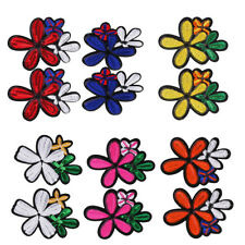 2Pcs Embroidery Flower Sew On Patch for Bag Hat Jeans Dress Applique Craft