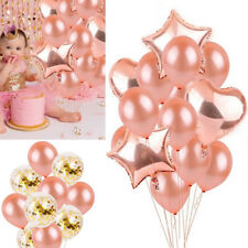 Rose Gold Foil Balloon Happy Birthday Supply Wedding Party Decor Helium Balloon