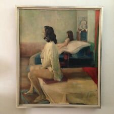 original oil painting of female nudes signed  'Three women' by J.Costello 1964