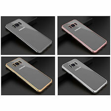 FOR SAMSUNG GALAXY S8 PLUS ULTRA THIN CHROME METALLIC GEL TPU SILICONE GEL CASE