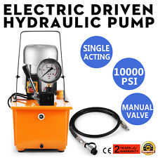 Electric Driven Hydraulic Pump Single Acting Remote Controlled 220V 10000PSI,New