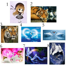 DIY Diamond Embroidery Painting Cross Stitch Home Decor Girl Tiger Swan Art