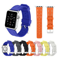38/42mm Soft Silicone iWatch Band Sport Wrist Strap for Apple Watch Series 1/2/3