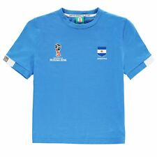 FIFA World Cup 2018 Argentina Core T-Shirt Juniors Blue Football Soccer Top Tee
