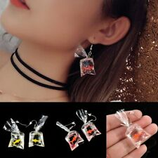 Goldfish Water Bag Shape Dangle Hook Earrings Fashion Charm Girl Jewelry Gift