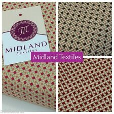 """Scandi Spots Christmas Print 44"""" 100% Cotton for craft and Patchwork M518-FF52"""