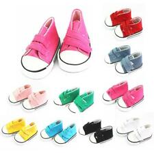 """Canvas Shoes Gym Sneakers for18"""" American Girl Doll Princess Clothes Accessories"""