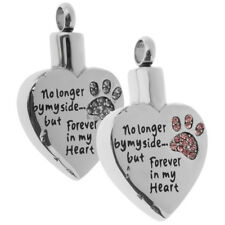 Stainless Steel Forever in My Heart Ashes Urn Pendant Memorial Cremation